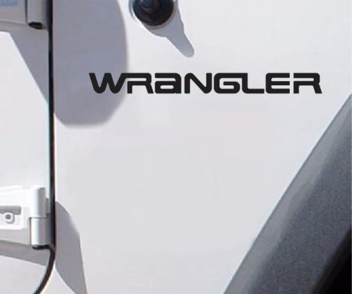 Jeep wrangler Old Style Logo Fender Decal set of 2 decals 11 x 1