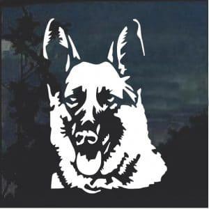 German Shepherd Head Window Deal Sticker