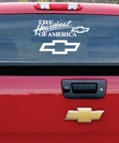 The heartbeat of America Chevy Chevrolet window decal sticker 17