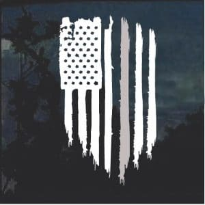 Thin Grey Line Corrections Officer Weathered Flag Decal Sticker