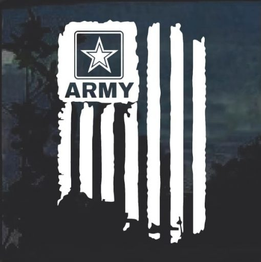 Military Decals – Army Weathered Flag Window Decal Sticker