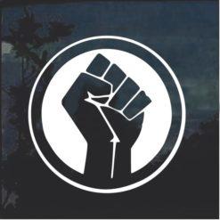 BLM Black Lives Matter Round Decal Sticker