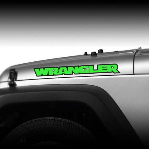 Wrangler Throwback 2 color hood decal sticker