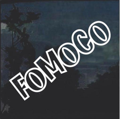 FOMOCO Ford Motor Company Window Decal Sticker