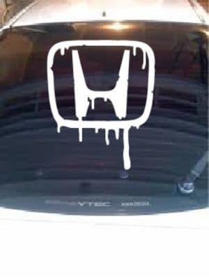 "Honda Bleeding Logo Rear Window decal 24"""
