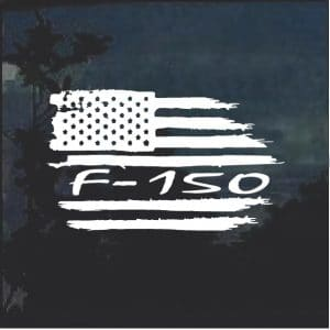 Ford F-150 Weathered Flag Decal Sticker a2