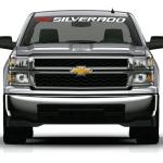 Chevy Chevrolet Silverado With bowtie windshield banner decal sticker