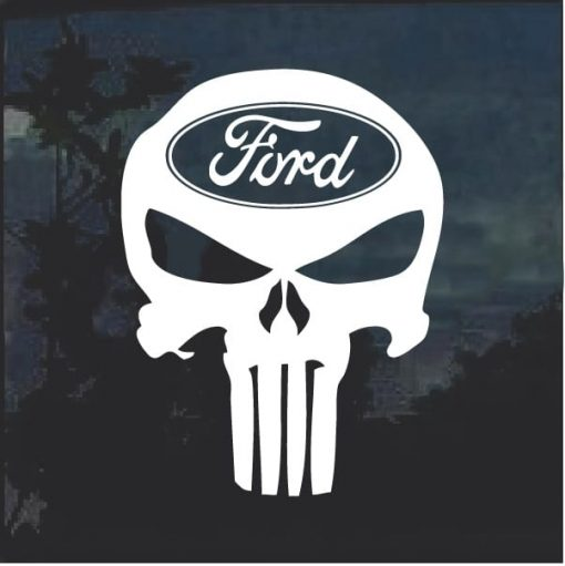 Ford Punisher Window Decal Sticker a2