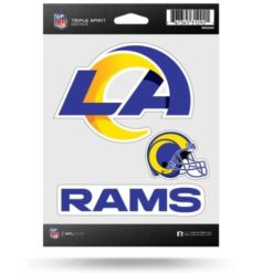 NFL Football Los Angles Rams New Logo Window Decal Sticker Set Officially Licensed