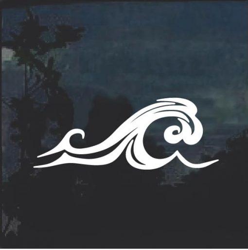 Sea Beach Wave Window Decal Sticker