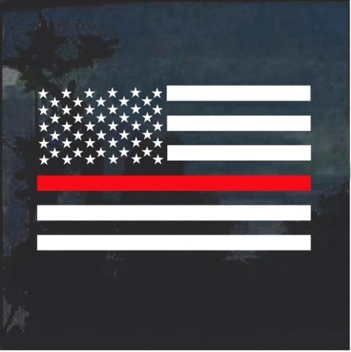 Thin Red Line Fire Fireman Firefighter Flag Decal Sticker