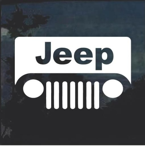 Jeep grill Jeep Decal Stickers- Aftermarket replacement NON Factory