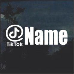 Tik Tok Username Window Decal Sticker