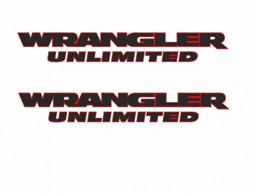 Wrangler Unlimited 2 color fender decal set