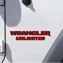 Jeep wrangler unlimited 2 color fender decal set
