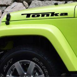 Jeep Wrangler Tonka Hood set of 2