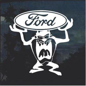 Tazmanian devil Taz Ford Window Decal Sticker